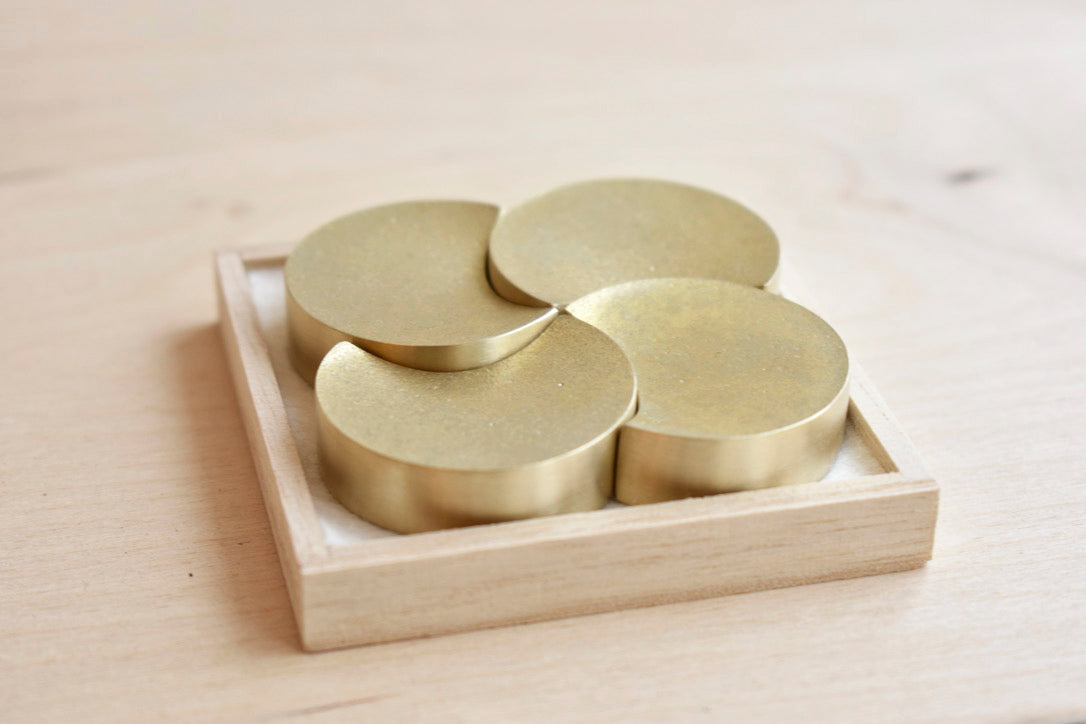 Japanese Brass Chopstick Rests - Four Moon