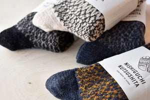 Japanese Wool Socks in Charcoal