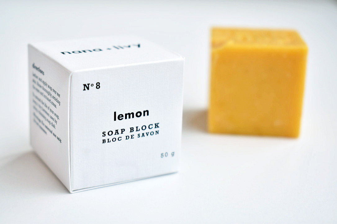 No 8 Lemon Soap Block