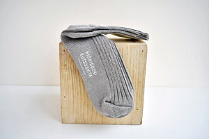 Japanese Linen Ribbed Socks in Beige