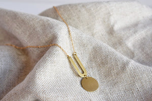 Punctuated Arch Necklace