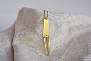 Rectangular Fringe Necklace