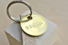 "Small Custom ""Montana"" Brass Key Chain"