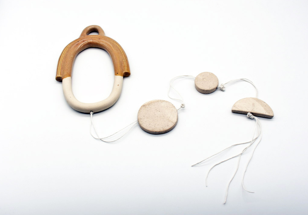 Minimalist ceramic wall hanging #4