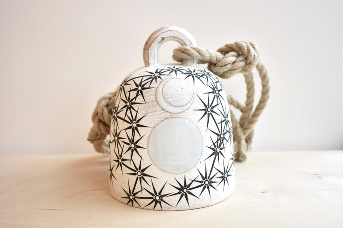 Contellation and Moons Round Ceramic Bell - Medium