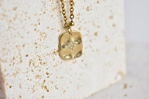 North Star Tag Charm Necklace