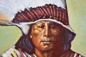 """Warbonnet Chief"" Painting"