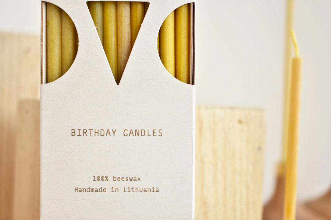 Beeswax Birthday Candles 10 pack