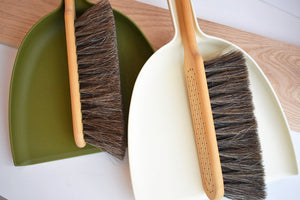 Swedish Dust Pan Set in White