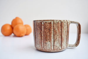 Hand painted retro mug
