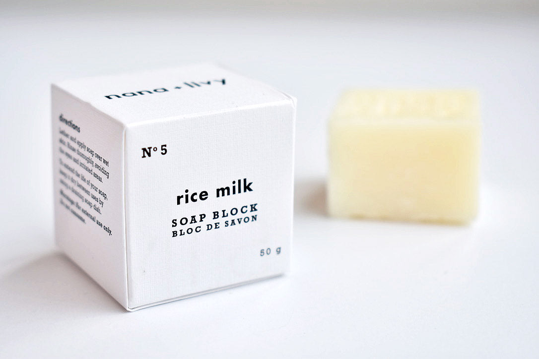 No 5 Rice Milk Soap Block