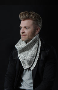 Worker Banadana Scarf in White