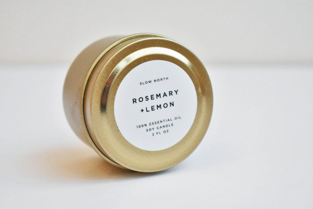Mini Soy Rosemary & Lemon Candle