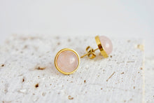 Rose Quartz Stud Earrings