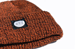 Slope Waffle Beanie in Orange