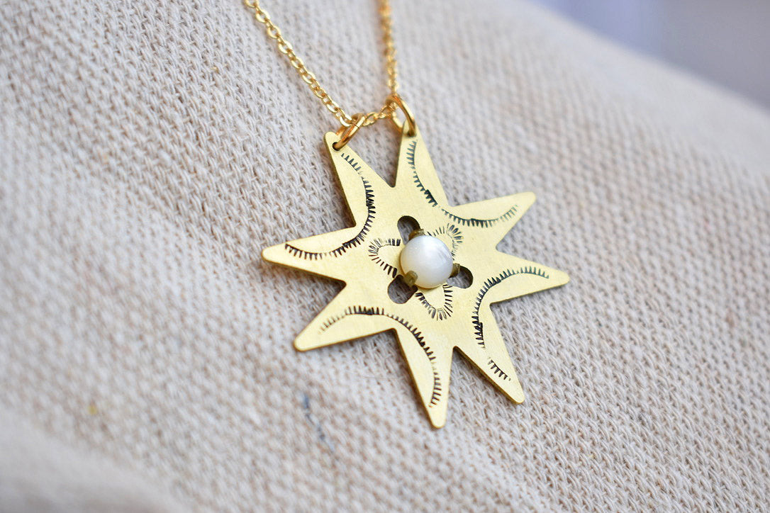 Morningstar Necklace in Mother of Pearl