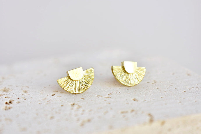 Sun god earrings