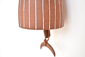 Terracotta Stripes Bell