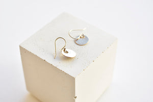 Tiny Coin Earrings 14k Gold