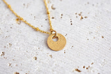 Gold Tiny Coin Necklace