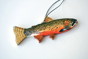 Hand painted Westslope Trout ornament