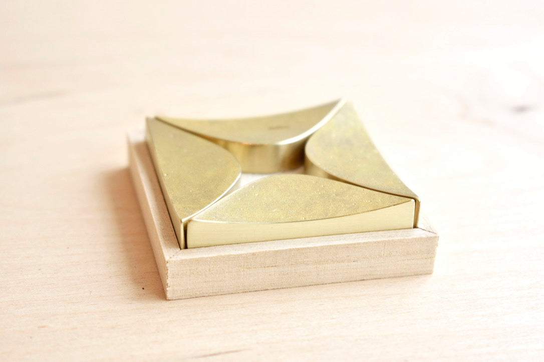 Japanese Brass Chopstick Rests - Twinkle