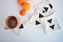 White/Black Mud Cloth Coasters set of 4