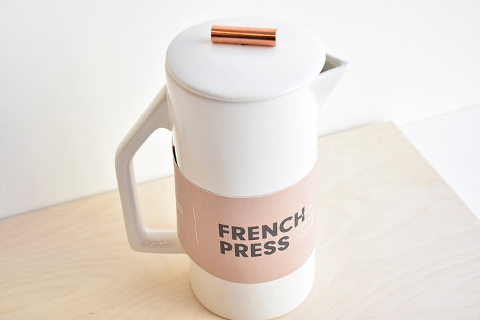 Ceramic French Press - Cream