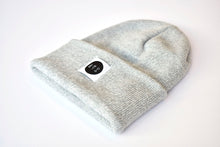 Slope Beanie in Light Grey/white Mix
