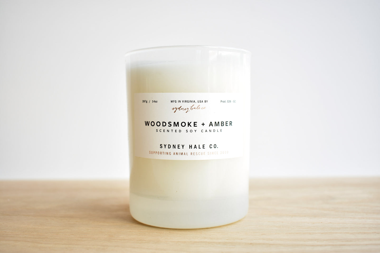 Woodsmoke & Amber Candle