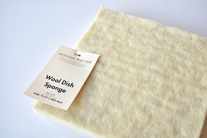 Wool Dish Sponge - Large