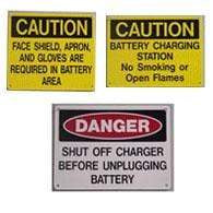Battery Room Sign Kit