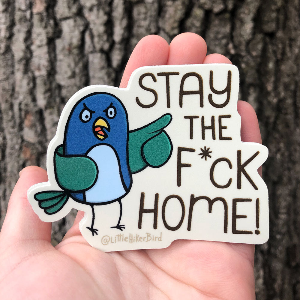 Stay the F*ck Home Sticker