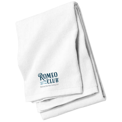 Beach Towel, ROMEO CLUB™ LOGO with Tag Line