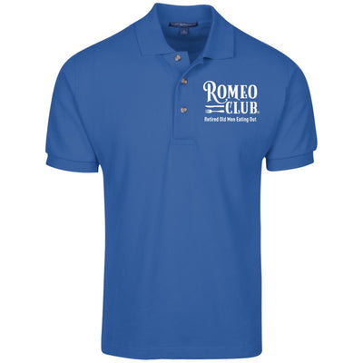 Polo Shirt, 100% Cotton Pique Knit, ROMEO CLUB® Logo and Tag Line
