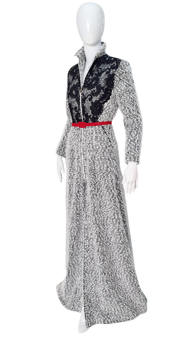 Glamorous and classic long dress style coat.