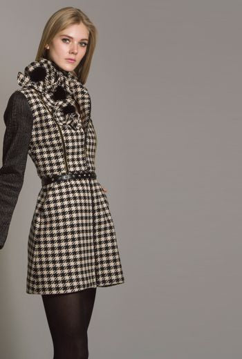 Trendy wool minidress style coat