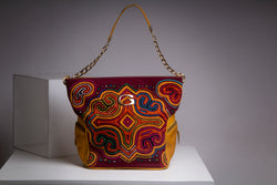 Handmade embroidery  handbag