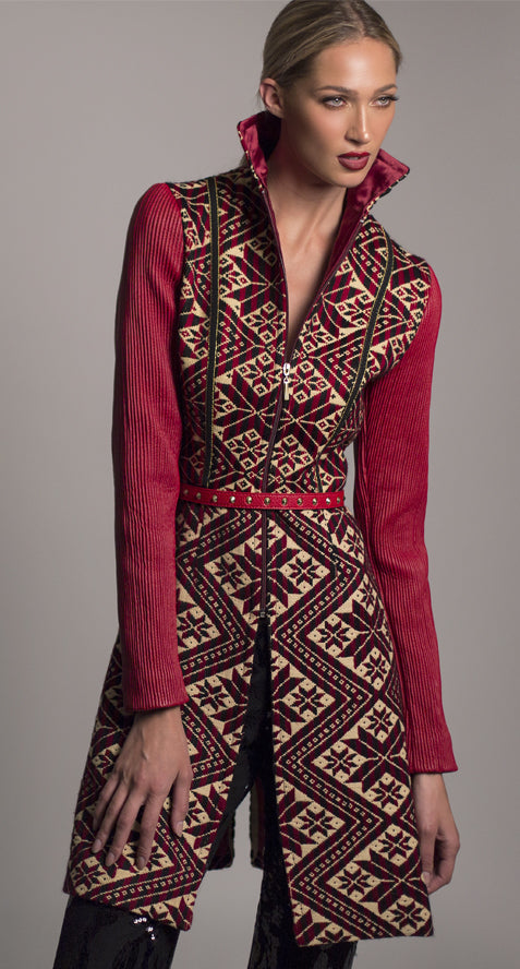 Classic handmade embroidery long coat