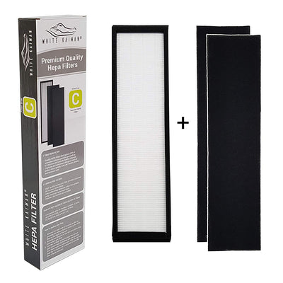 White Kaiman True HEPA Air Filter Replacement - Size C