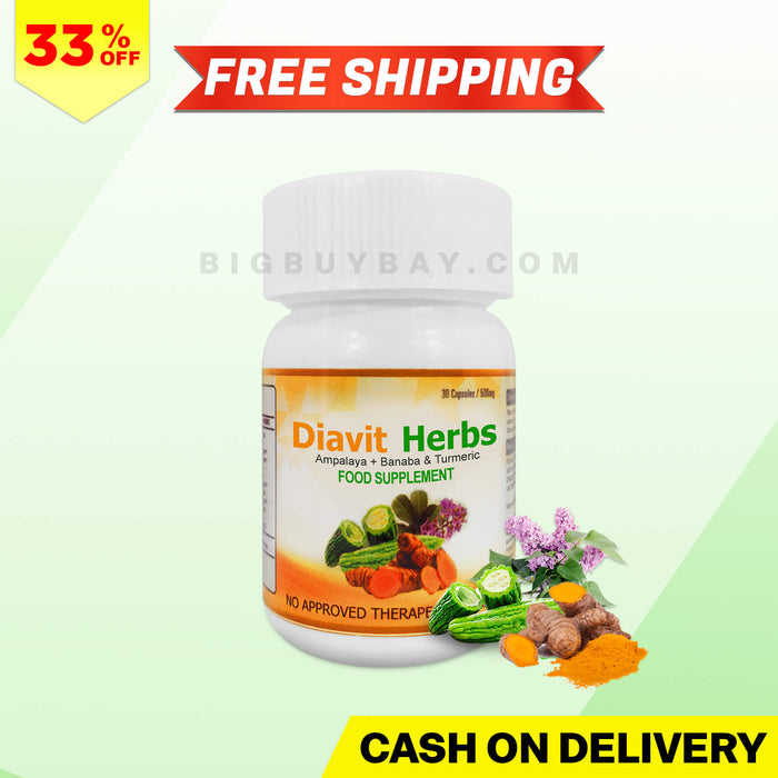 Promo A - 1 Bottle Diavit Herbs - 33% Discount + Free Shipping