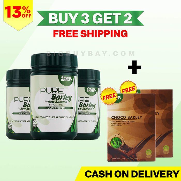 Sante Pure Barley Canister - Buy 3 Get 2 Sante Choco Barley Plus Free Shipping
