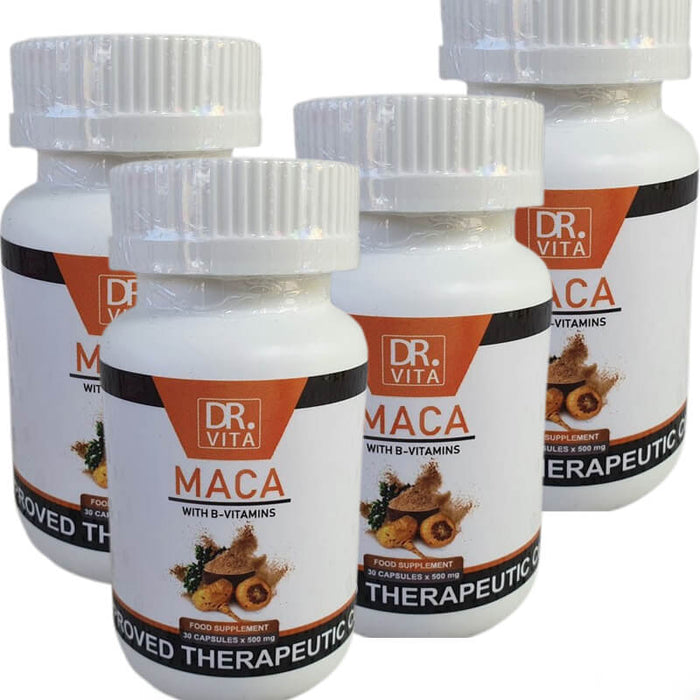 Dr. Vita Maca with B-Vitamins (Mens' Energy and Endurance Booster) Twin Pack Promo
