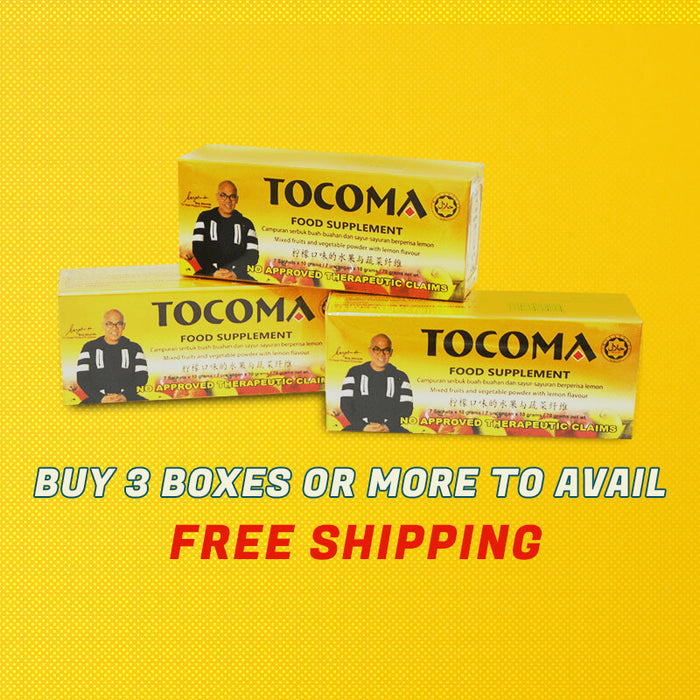 TOCOMA Colon Cleansing Juice - Buy 3 Boxes of Tocoma You Get FREE Shipping Promo