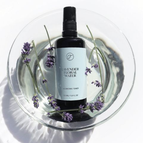 lavender water has a calming effect and ensures skin rejuvenation