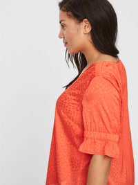 Top corail satin