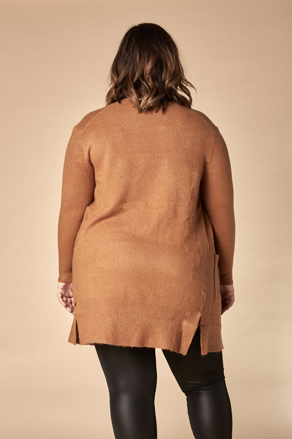 Cardigan long camel