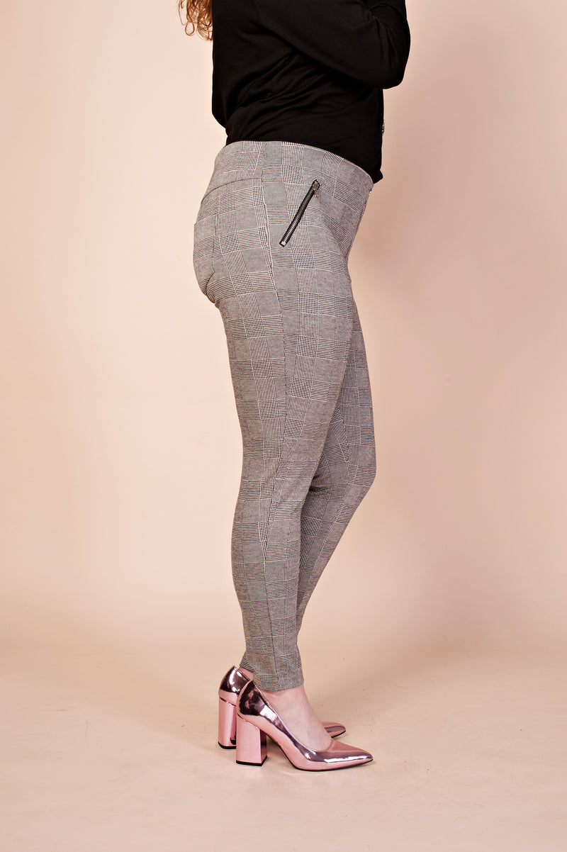 Pantalon legging à carreaux