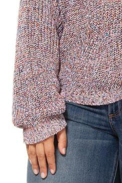 Pull en maille multicolore