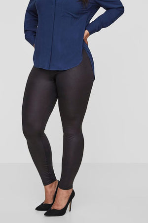 Legging noir aspect brillant
